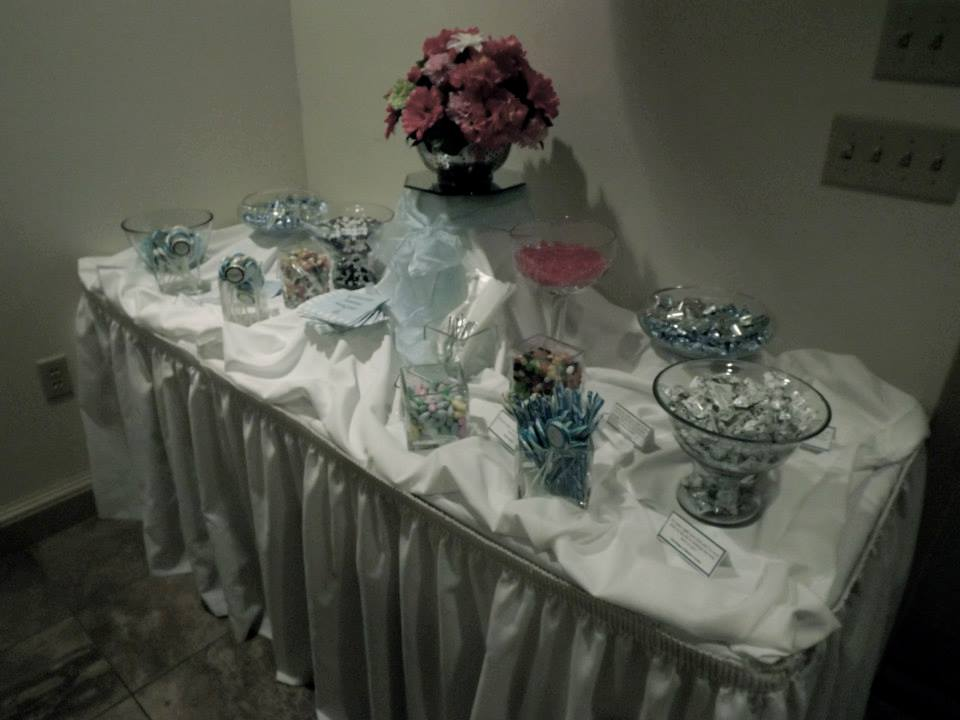 bridal shower candy table